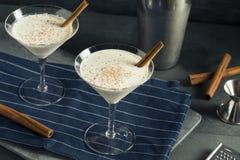 Домодельный сметанообразный десерт Мартини циннамона Eggnog Стоковые Изображения RF