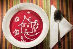 домодельный суп стоковые фотографии rf