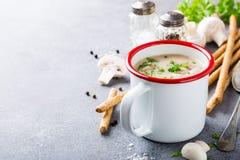 Домодельный суп champignons грибов Стоковое Фото