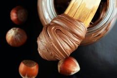 Домодельный фундук распространенный в шаре Сливк нуги фундука стоковая фотография rf