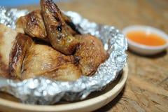 Домодельный цыпленок BBQ барбекю с соусом Стоковое Фото