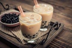 Домодельный чай пузыря молока стоковое фото rf