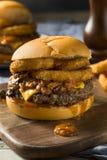 Домодельный Cheeseburger Chili барбекю Стоковые Изображения RF