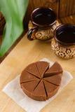 Домодельный fudge шоколада с вкусом банана Стоковое Изображение