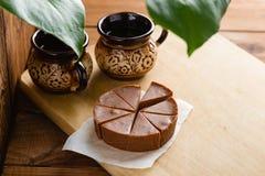 Домодельный fudge шоколада с вкусом банана Стоковые Фотографии RF