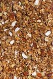 Домодельный granola с чокнутым концом-вверх, вертикальным Стоковое Фото