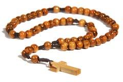 домодельный rosary деревянный Стоковые Фотографии RF