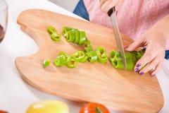 Домохозяйка в кухне Стоковые Фото