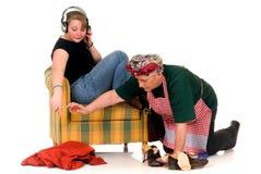 домохозяйка дочи ленивая Стоковая Фотография