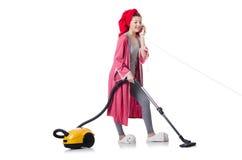 Домохозяйка изолированная на белой предпосылке Стоковые Изображения RF