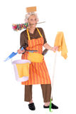 домохозяйка чистки Стоковая Фотография