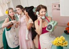 домохозяйки группы ретро Стоковое Изображение