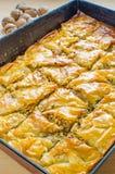 Домодельная бахлава грецкого ореха Стоковое Фото