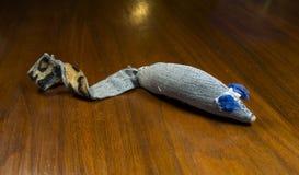 Домодельная мышь игрушки кота Стоковое Изображение RF
