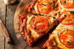 Домодельная пицца коркы цветной капусты Vegan стоковые фотографии rf