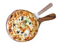 Домодельная пицца креветки специи Стоковые Фотографии RF