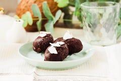 Домодельная сырцовая конфета щедрот, здоровый десерт vegan Стоковое Изображение