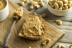 Домодельное арахисовое масло анакардии Стоковая Фотография