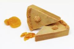 Домодельное естественное мыло абрикоса Стоковое Изображение