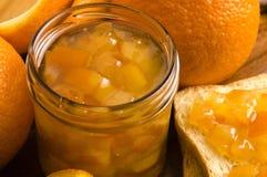 Домодельное оранжевое варенье стоковое изображение