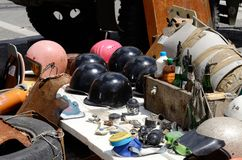 Домодельное оружие протестующих, Киев, Maidan, Украина Стоковые Изображения RF