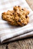 Домодельное печенье с хлопьями овса Стоковое Фото