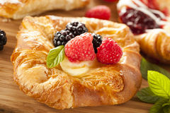 Домодельное печенье Danish лакомки Стоковые Изображения