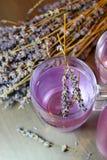 Домодельное питье лаванды стоковая фотография