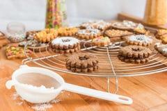 Домодельное украшение печений рождества Стоковая Фотография RF
