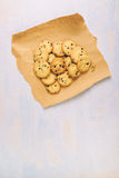 Домодельные американские печенья обломока шоколада Стоковое Изображение