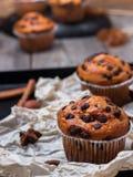 Домодельные булочки обломока шоколада пряные испекут для завтрака Стоковое Изображение