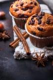 Домодельные булочки обломока шоколада пряные испекут для завтрака Стоковые Фотографии RF