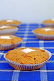 Домодельные булочки с изюминками и гайками Стоковое фото RF