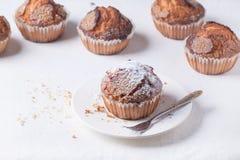 Домодельные булочки с напудренным сахаром Стоковое Изображение RF