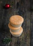 Домодельные булочки для рождества Стоковая Фотография RF
