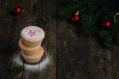 Домодельные булочки для рождества Стоковые Изображения