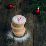 Домодельные булочки для рождества Стоковые Фотографии RF