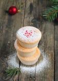 Домодельные булочки для рождества Стоковое Изображение RF