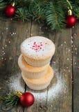 Домодельные булочки для рождества Стоковая Фотография
