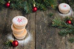 Домодельные булочки для рождества Стоковое фото RF