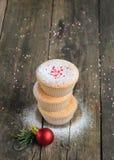 Домодельные булочки для рождества Стоковые Изображения RF