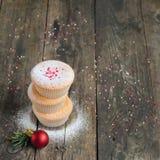Домодельные булочки для рождества Стоковое Фото