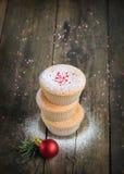Домодельные булочки для рождества Стоковые Фото