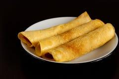 Домодельные блинчики сделанные от тапиоки flour, яичка и молоко кокоса Соотвествующий десерт для здорового питания Стоковое Изображение RF