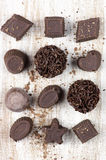 Домодельные конфеты шоколада Стоковое Изображение