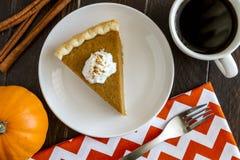 Домодельные куски пирога тыквы Стоковая Фотография