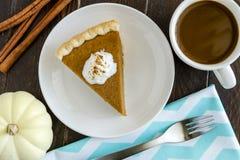 Домодельные куски пирога тыквы Стоковое Фото