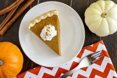 Домодельные куски пирога тыквы Стоковая Фотография RF