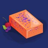 Домодельные мыла, цветки и эфирное масло баров установленные pictograms интернета икон vector вебсайт сети Стоковое фото RF