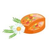 Домодельные мыла, цветки и эфирное масло баров установленные pictograms интернета икон vector вебсайт сети бесплатная иллюстрация